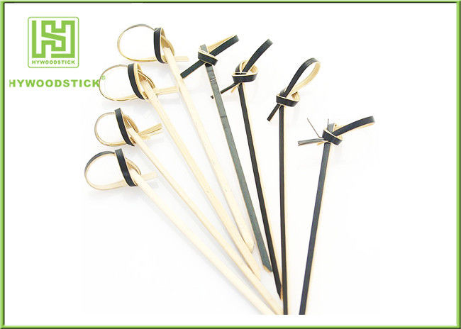 Disposable Small Shish Kebab Sticks , Customized Bamboo Barbecue Sticks 105mm