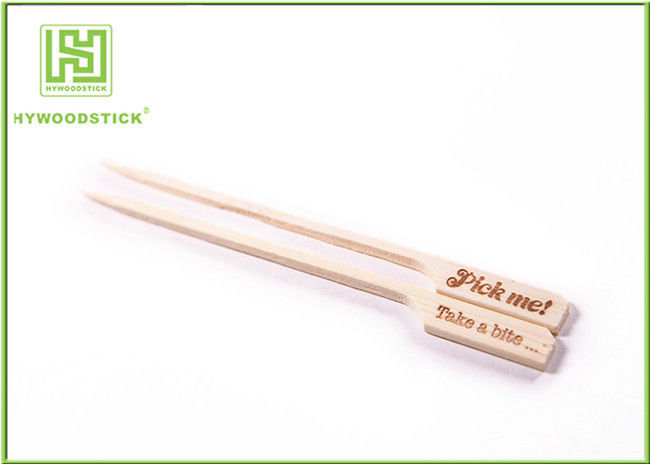 Custom Shaped Bamboo Kebab Sticks Bbq Wooden Skewers For Grilling FDA Approved