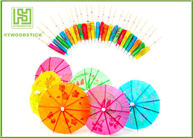 Creative Decorative Food Toothpicks 10mm Umbrella Drink Sticks For Cup Cake