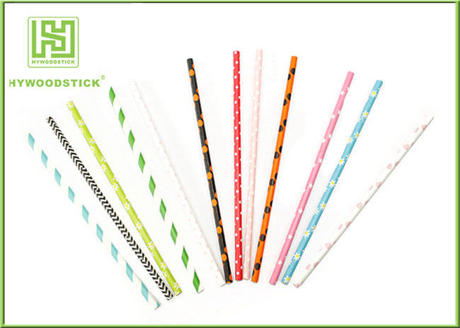 Modern Fashion Party Paper Straws For Drinking Stirrering 10000pcs / Carton