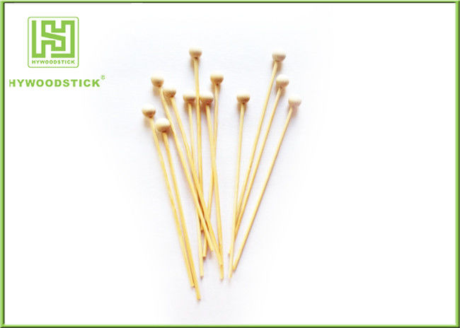 Eco - Friendly Wooden Lollipop Sticks With 10mm Diameter Ball Odorless