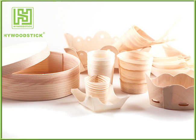 Pine / Poplar Wooden Sushi Boat / Cups For Restaurant Different Shape Size