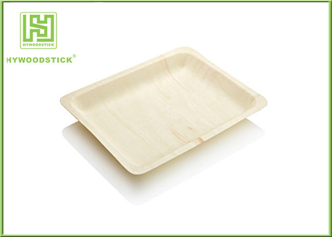 Odorless Elegant Disposable Plates , Medium Wooden Serving Platters Well Polished