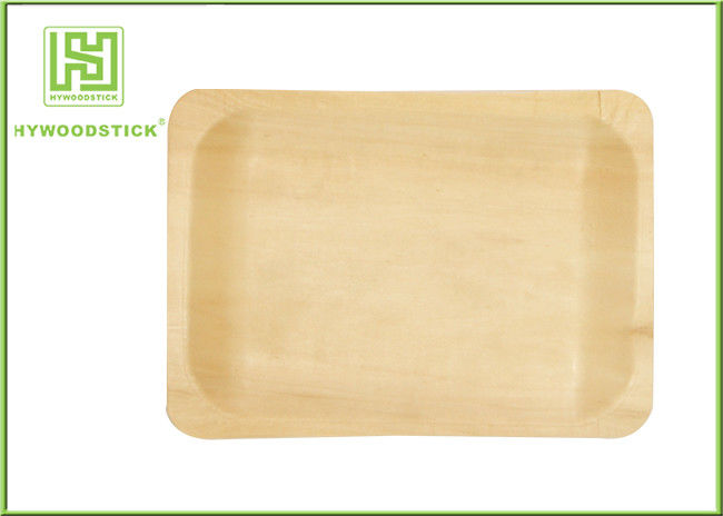 Different Shape Wooden Pizza Plate Fast Food Trays With FSC FDA Certificated