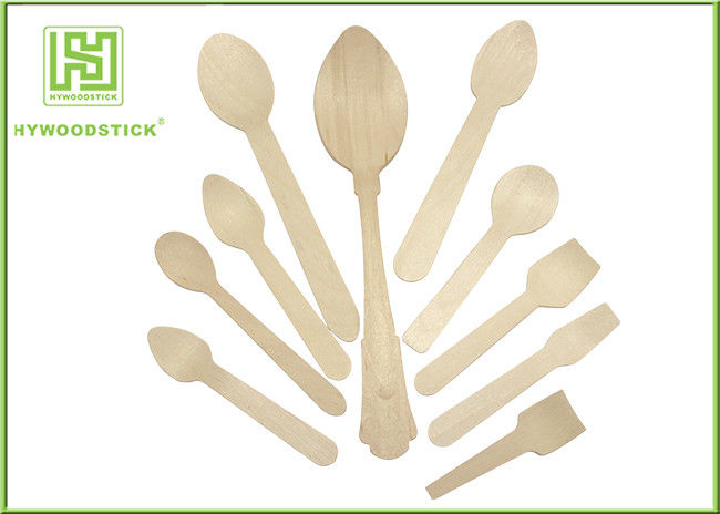 Healthy Disposable Wooden Cutlery Dinner Ice Cream Spoons In Different Shapes